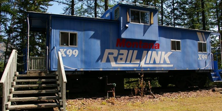 Classic Blue Caboose at Izaak Walton Inn - Cabin Rentals in Glacier
